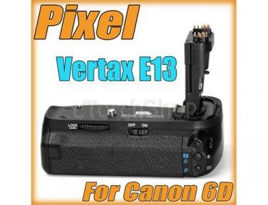 Pixel Vertax BG E13 For Canon EOS 6D Vertical Hand Grip Pack LP-E6 AA Battery