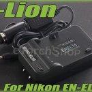 i-Lion EN-EL15 Charger F Nikon Battery Worldwild 100-240V US Plug W Car Adapter