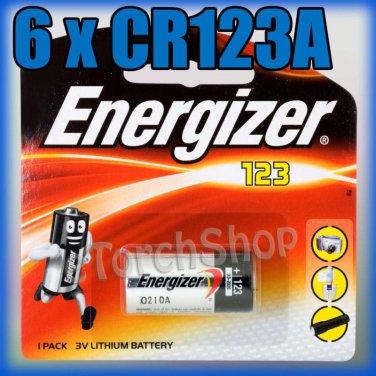 6 x ENERGIZER CR123A CR 123 123A 3V LITHIUM BATTERIES
