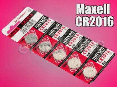 5 Pieces Maxell CR2016 CR 2016 Lithium 3 Volt 3 V Battery for Calculator