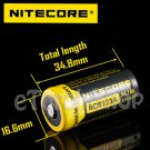 Nitecore NL166 RCR123A Li-ion Battery 3.7V 650mAh 16340