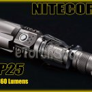 Nitecore P25 Cree XM-L U2 LED 680LM 18650 USB Charging Cable Flashlight
