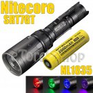 Nitecore SRT7GT Set Flashlight Cree V3 RGB UV LED W 3500mAh 18650 Battery Torch