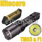 Nitecore TM03 CREE XHP70 2800LM 18650 Battery F1 USB Charger Flashlight Torch