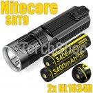 Nitecore SRT9 Set Multi Color Flashlight Troch 2x NL1834R USB 18650 Battery