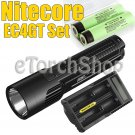 Nitecore EC4GT Set UM20 USB Charger 2x Panasonic NCR18650B Unibody Flashlight