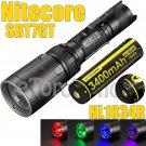 Nitecore SRT7GT Set Multi Color Flashlight Torch 1x NL1834R 3400mAh USB Battery