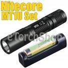 Nitecore MT1U Set 900mW UV Panasonic 18650B 3400mAh USB Charger Flashlight Torch