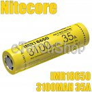 NiteCore 1x 3100mAh 35A 3.7v IMR 18650 Rechargeable Unprotected Battery w/o Box