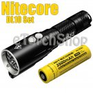 Nitecore DL10 Set V3 LED Red Light 3500mAh 18650 Battery Diving Flashlight Torch
