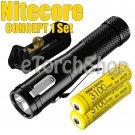 Nitecore CONCEP 1 Set 2x 3100mAh 18650 Battery F1 USB Charger Flashlight Torch