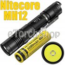 Nitecore MH12 Set Cree LED USB Rechargeable Flashlight With NL188 18650 Battery