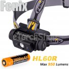 Fenix HL60R Cree L2 950LM Dual Red LED 18650 Battery USB Rechargeable Headlamp