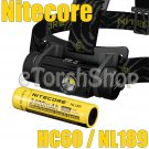 Nitecore HC60 Cree LED 1000LM 5Mo NL189 18650 Battery USB Rechargeable Headlamp