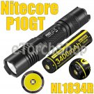 Nitecore P10GT Set Cree V3 LED Flashlight Torch NL1834R 3400mAh USB18650 Battery