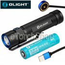 Olight S2R Baton CREE LED 1020LM Flashlight Torch 18650 Battery USB Rechargeable