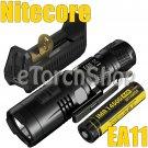 Nitecore EA11 Set 900LM 8Mo F1 USB Charger NI14500A Battery AA Flashlight Torch