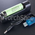 Panasonic NCR18650B 3400mAh Li-ion Rechargeable Battery W USB LED Charger