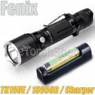Fenix TK15UE Set 1000LM Flashlight USB Charger Panasonic 18650 Battery Torch