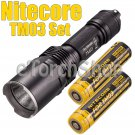 Nitecore TM03 Set 2800LM Flashlight 2x Nl18650D Battery 1x USB Charger Torch