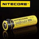 NiteCore 1x NL186 2600mAh Protected 3.7v 18650 Rechargeable Li-ion Battery