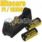 Nitecore F1 2x NI18350A 700mAh 7A Rechargeable Battery USB Li-ion Charger