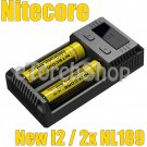 Nitecore New i2 Smart Charger 2x NL1835 3500m 18650 Li-ion Rechargeable Battery