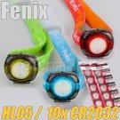 Fenix HL05 LED Headlamp W 10x CR2032 Battery Keychain Flashlight Head Torches