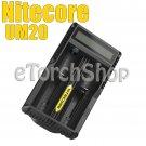 Nitecore UM20 USB Li-ion Charger 4.2v 18650 18350 14500 Rechargeable Battery