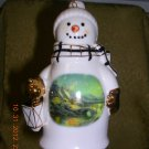 Thomas Kinkade 2006 Christmas Ornament Moonlight Painter of Light, Price Includes S&H