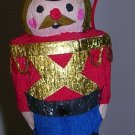 Christmas Ornament Nutcracker Soldier Paper Mache, Price Includes S&H