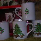 4 Tienshan HOLIDAY HOSTESS Coffee Mugs, Price Includes S&H