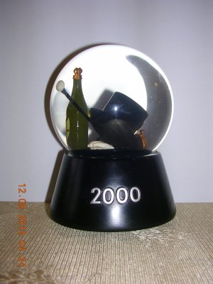 Year 2000 Snow Globe, Price Includes S&H
