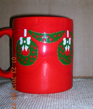Coffee Mug West German Christmas, Price Includes S&H
