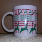 Merry Christmas Leaping Deer Coffee Mug, Price Includes S&H