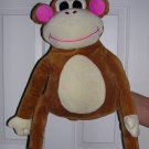 Idea Nuova Plush Big Soft Smiling Monkey Hugging Pillow Buddy, Price Includes S&H