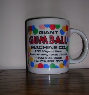 Giant Gumball Coffee Mug, Price Includes S&H