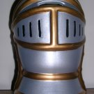 Medival Knight's Helmet Bank--app 6 tall, ceramic, Price Includes S&H