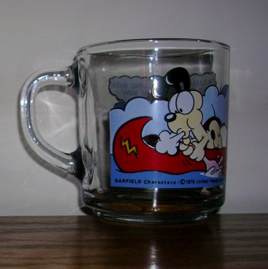 1978 Clear Glass Garfield Mug from McDonald's, Price Includes S&H