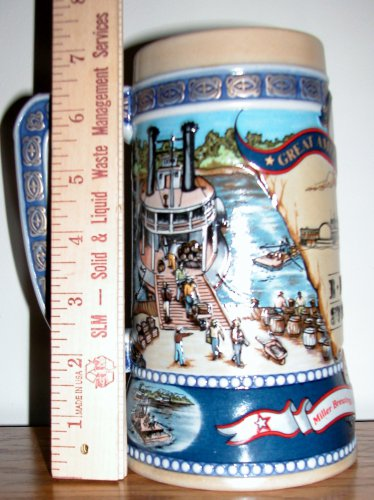 Beer Stien American Achievements by Miller High Life The River Steamer, Price Includes S&H