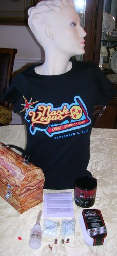 NashVegas tee shirt LADIES LARGE--4 in this size, Price Includes S&H
