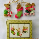 "Imagination in Action ""Celebrate Your Socks Off"" Cute Christmas Mice, Price Includes S&H"