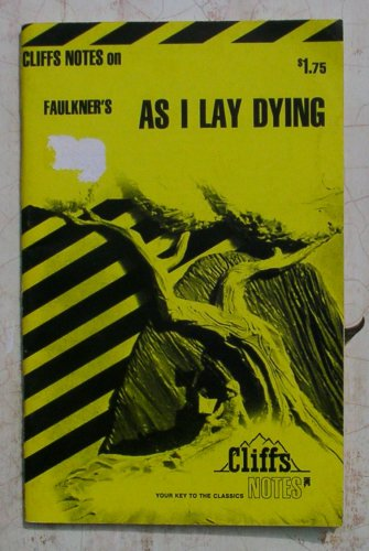 Faulkners As I Lay Dying Cliffs Notes Price Includes Sh