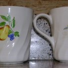Corelle Coordinates Chutney Pattern Mugs, Price Includes S&H
