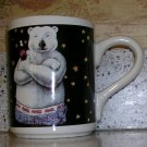 1996 Coca-Cola Polar Bear Mug Stars Coffee/Tea Mug by Gibson, Price Includes S&H