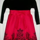 Rare Editions Red and Black Holiday Christmas Dress Size Girls 4, Price Includes S&H