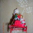 Vintage Train & Bear Ornament, Price Includes S&H