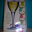 Boston Warehouse Tropical Fish Wine Glass Markers--Set of 6, Price Includes S&H