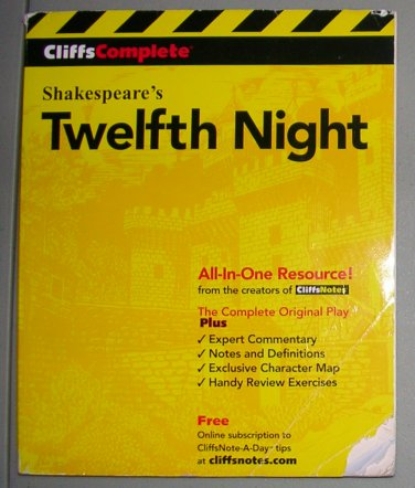 Cliffs Complete Twelfth Night #1, Price Includes S&H
