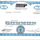 Michael E. Parker Automotive Stock Certificates (One lot of Six), Price Includes S&H